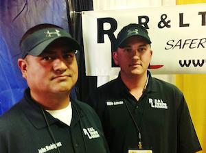 John Rodriguez, Willie Lancon of R&L Tarping Solutions