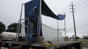MATS 2013 attendees were treated to a demonstration video of the Roller Rak that owner-operator John Rodriguez had filmed on a winter day in Texas with 35-mph winds -- terrible day for tarping a high load.