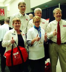 From left: TSG members Linda Caffee and Scott Grenerth, FMCSA Administrator Anne Ferro, and TSG members Bob Caffee and Rick Ash