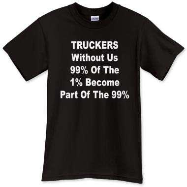Truckers 99 percent t-shirt design