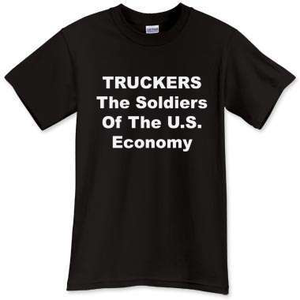Truckers soldiers t-shirt design