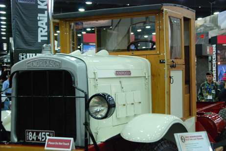 Blast from the past at MATS: 1928 Hendrickson 6x2 tractor