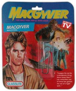 MacGyver, aka George Parker, is always prepared.