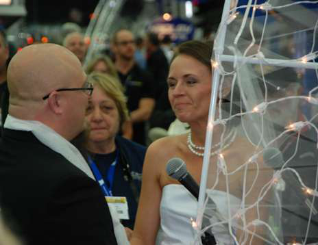 Shannon Mann and Kevin Young get married at the Mid-America Trucking Show