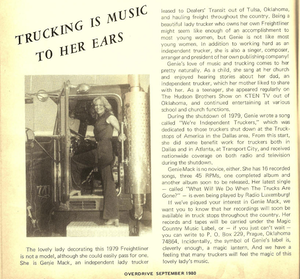 Click through the image to read Overdrive's September 1980 feature on Genie Mack's music and its role in the 1979 independents' shutdown.