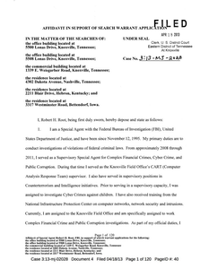PFJ affidavit