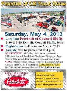 Peterbilt of Council Bluffs 2013 truck show flyer