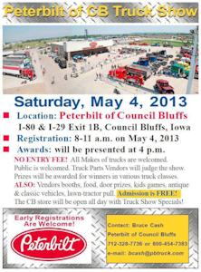 Peterbilt of Council Bluffs 2013 truck show flyer