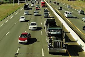 Owner-operator truck on highway