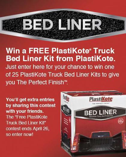 Plastikote free-bedliner contest