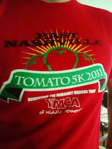 Tomato 5K race shirt edit