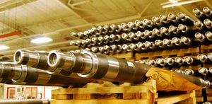 Axle shafts at Meritor Trailer-axle manufacturing facility
