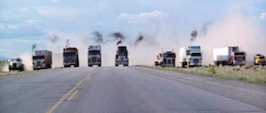 "Sam Peckinpah's 1978 ""Convoy"" flick memorialized the truckers protest convoy in the days of the 55-mph speed limit. The C.W. McCall song on which it was based scored No. 4 on our 2011 reader-provided-and-voted-on list of the top 10 trucking songs of all time, behind only ""Six Days on the Road,"" ""East Bound and Down,"" and ""Teddy Bear."""