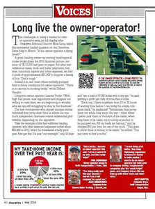 The May issue showed numerous examples of profitable niche short-haul operations. Read the piece online here.