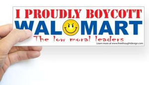 Walmart boycott sticker