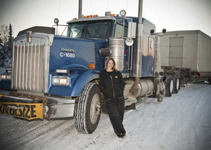Lisa Kelly and her Carlile Kenworth