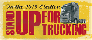 The Australian Trucking Association's 2013 election-issues campaigning is centered largely around opposition to the current government's plans for the 2014 imposition of a carbon tax on diesel.