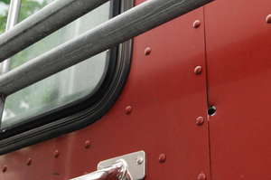 Volpe's bullet entered Johnston's cab through the back of the Peterbilt's sleeper.