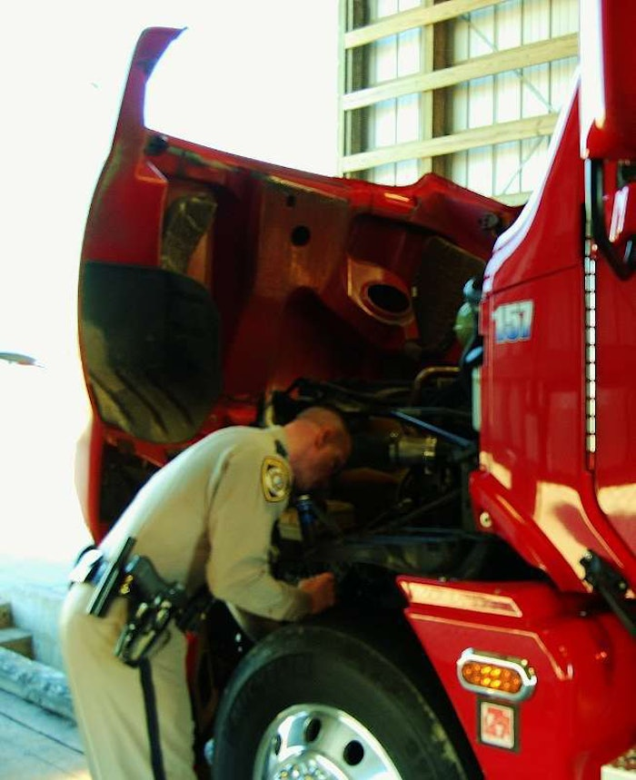 engine compartment inspection