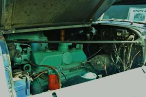 Four-cylinder Detroit engine in GMC 630