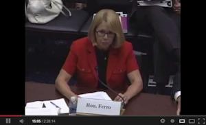Ferro on the hot seat in Congress