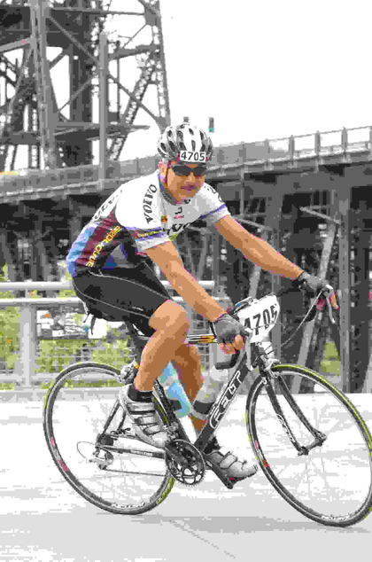 Prime leased owner-operator Mario Almendarez, who rode a total of 538.99 miles to win the carrier's 2013 May Bicycle Challenge. Nearly 30 of the company's operators carry bikes with them on the road.