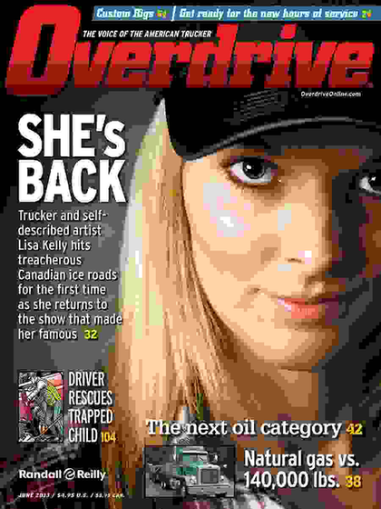 Lisa Kelly on Overdrive June 2013 cover