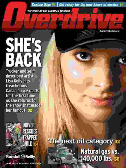 Lisa Kelly on Overdrive June 2013 cover