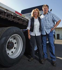 Tom and Karen Moore, independent owner-operators