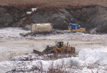 Alaska: Avalanche on the Haul Road!