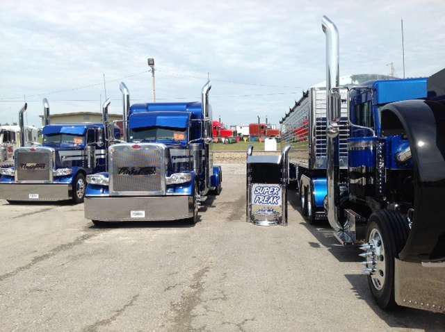 Davis Bros. operates 21 trucks and brought three to the Pride & Polish Show.
