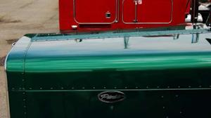 Ronald Millsaps Peterbilt '369' hood bracing
