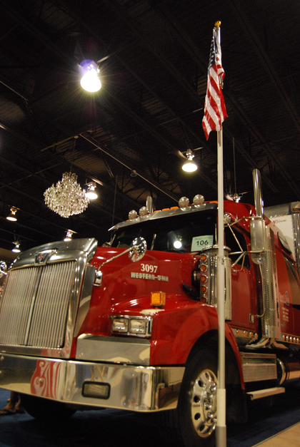 A working truck at the show booth