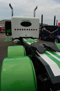 Joel Dawe's Peterbilt, rear view