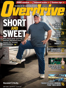 Bruce Johnston was featured on the cover of the July 2013 issue of Overdrive, concurrent with his part in our story on short- and long-haul operations. Johnston's dedicated haul runs short back and forth between Murfreesboro, Tenn., and Atlanta. Find the feature online here.