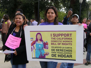 California domestic workers and truck drivers; $1,500 for a few words