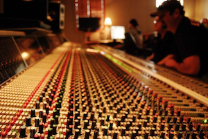 Tony Justice and Jeff Silvey over the mixing board