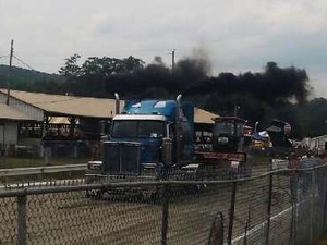 Erich Owens' truck at the pull