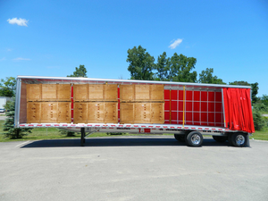East New-Neck Flatbed with SSI Curtainside (Crates)
