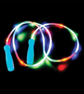 Flashing LED jump rope