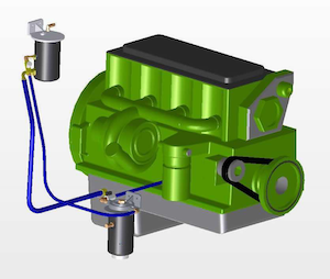 The Eco-Pur from Oil Purification Systems is an example of a bypass product that filters both solid and liquid contaminants.