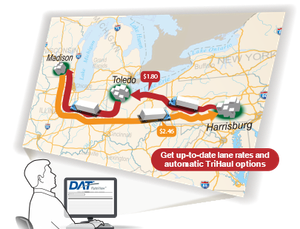 DAT RateView also provides 13-month rate histories, information critical to seasonal trend analysis and for quick and easy RFP response. The simple-to-use lane bulk-download feature can reduce the time necessary to respond to RFPs from hours to minutes.