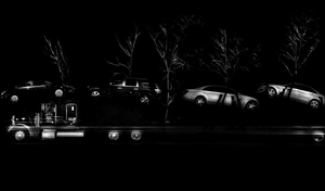 """New Jersey-based Michael Massaia's """"Seeing the Black Dog"""" series utilizes large-format analog photo technology to capture stunning images of trucks parked for the night."""
