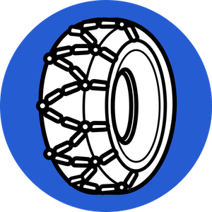 Tire chains illustration