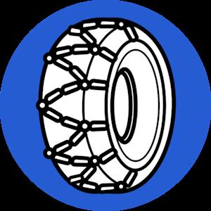 Tire chains illustration