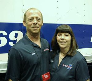 Teaming can make operator income such that it's possible to have a wide latitude for enjoying time off, say Tom and Tina Evans, team owner-operators of a 2005 Freightliner M2 expediter leased to Load One. The pair typically take the entire month of July off, culminating in a trip to the Expedite Expo show at the end of the month.