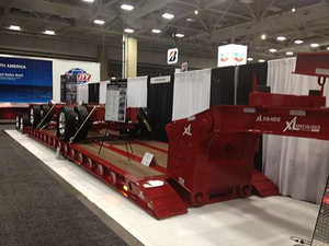 XL Specialized Trailers showcased its new custom hydraulic lowboy at the Great American Trucking Show in Dallas.