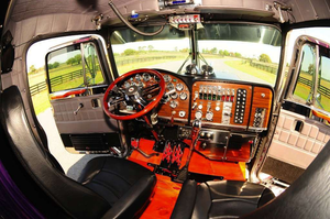 """""""The interior had already been redone – upholstery and everything,"""" Adams says. The gauges were original and in near-mint condition."""