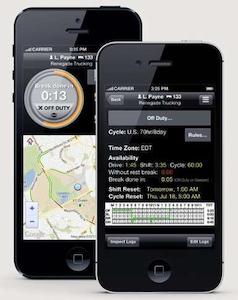 BigRoad logging app on iPhone