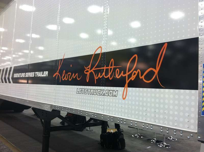 Aero-equipped Kevin Rutherford signature trailer geared toward owner-operators